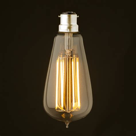 Edison Light Bulb Led 6 Watt Dimmable Lantern Filament Led B22 Clear Edison