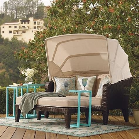 catalina outdoor loveseat and ottoman set frontgate