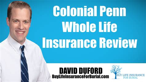 colonial penn  life insurance  review youtube
