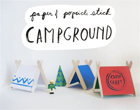 How To Make Paper Tent - popsicle stick tents mer mag