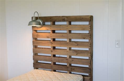 headboard made out of pallets world s easiest pallet headboard crap i ve made