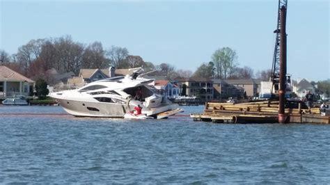 boat salvage lake norman million dollar yacht stuck on lake norman since saturday