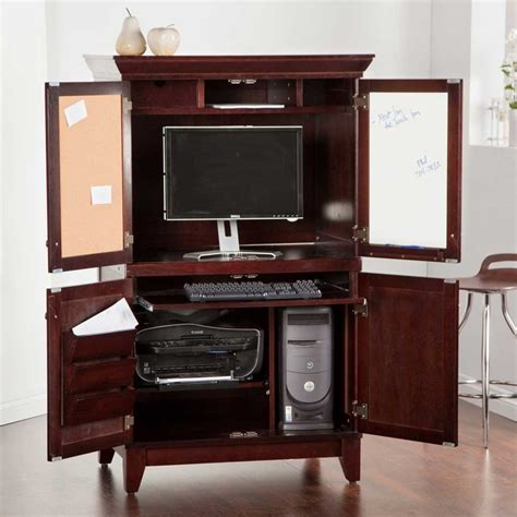 armoire office desk computer armoires for home office