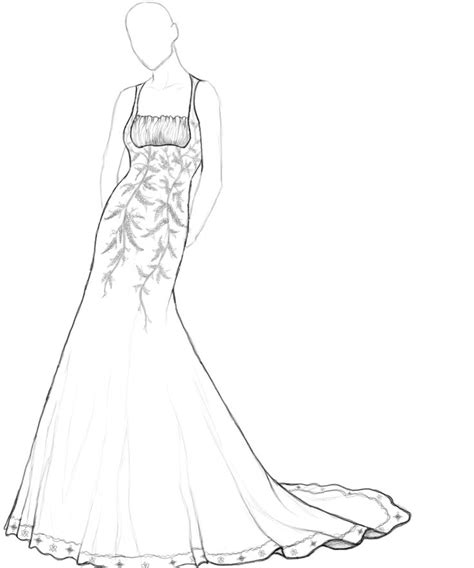 coloring pages wedding dresses of wedding dresses free coloring pages on art coloring pages