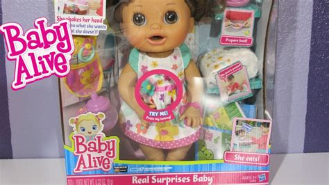 Baby Alive Baby Real baby alive real surprises baby doll unboxing feeding and