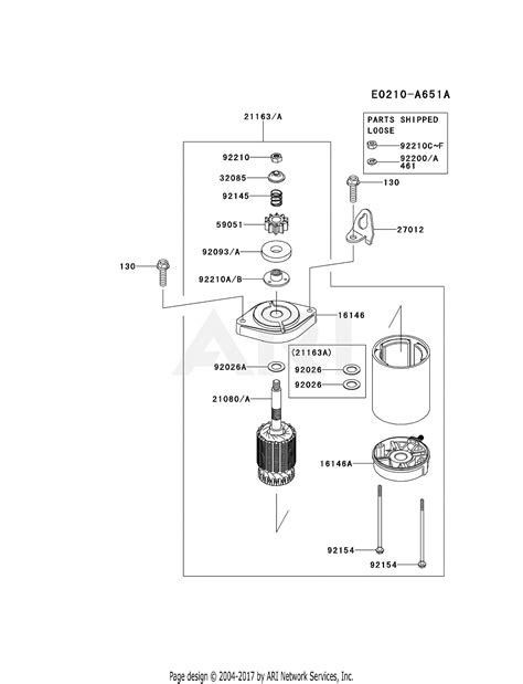kawasaki frv   stroke engine frv parts diagram  starter