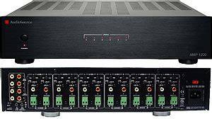 Power Lifier Built Up Bekas audiosource 1200 12 channel audio distribution lifier black electronics