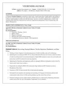 chemical resume