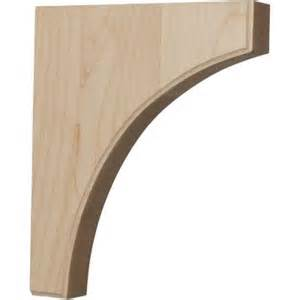 Wood Corbels Home Depot Ekena Millwork 1 3 4 In X 10 In X 12 In Unfinished Wood