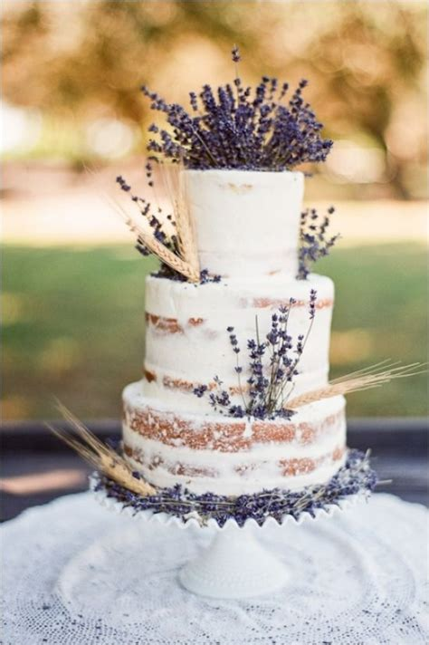 Lavender wedding cakes, Lemon lavender wedding cake