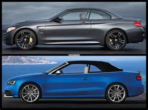 Audi Hardtop Convertible 2015 2015 Bmw M4 Convertible Vs Audi Rs5 Cabrio Photo Comparison