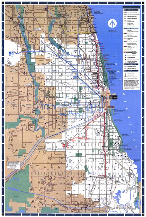 chicago l map chicago l system map chicago il mappery