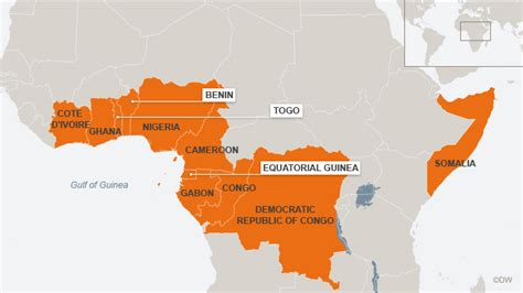africa map gulf of guinea africa gulf of guinea map
