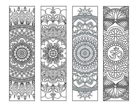 printable mandala bookmarks 4 mandala colouring bookmarks set 2 instant download