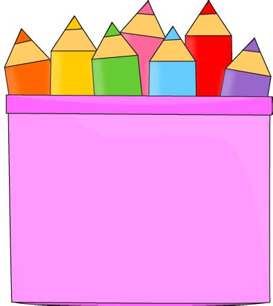 Notice Clipart School Background Pencil And In Color by Colored Pencils In A Pencil Holder Clip Colored