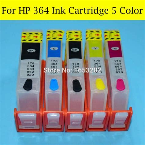 Fast Print Chip Pisah Autoreset Hp Photo Smart 8230 1 Set 1 10 set lot hp364 ink cartridge with auto reset chip for hp