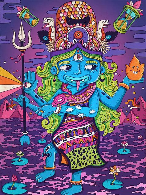 wang dang doodle hindu gods 493 best trippy psychedelic illustrations images on