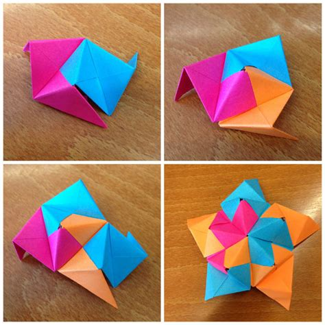Post It Origami - post it origami icosahedron 11 steps