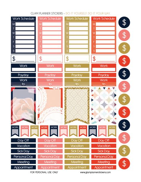 monthly set be bold planner addiction free monthly printable planner stickers set be bold