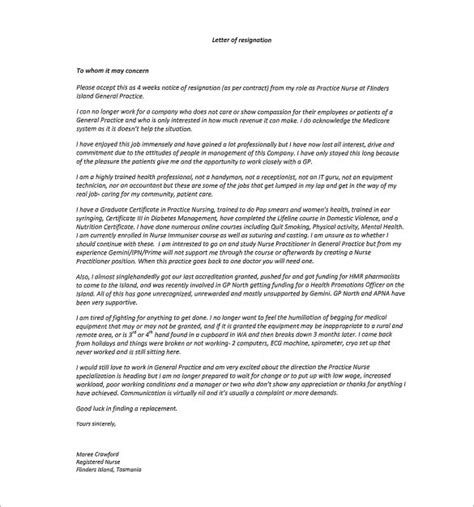 rn resignation letter template best business template