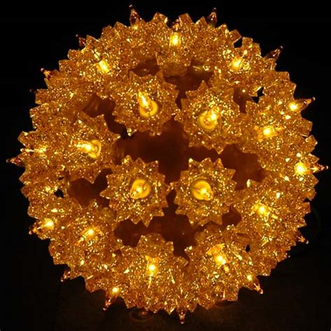gold 6 quot starlight sphere 50 light mini christmas light ball