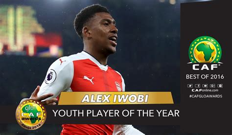 alex caf arsenal s alex iwobi collects caf youth player of the year