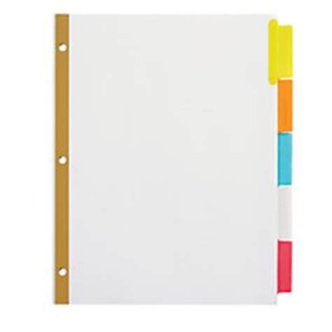 office depot divider templates office depot insertable dividers with big