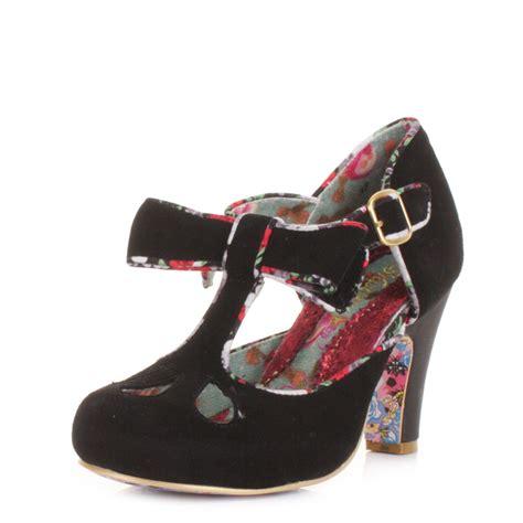 Lica High Heels N Co T 8cm womens irregular choice kate black suede t bar
