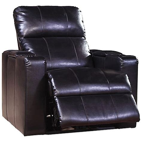 power bed recliner buy pulaski larson leather power recliner in black from