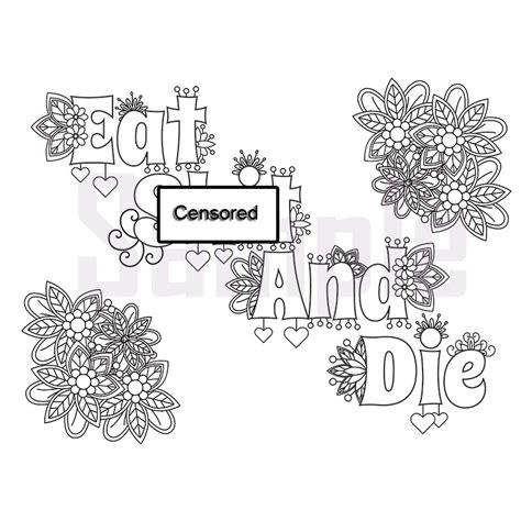 swear word coloring pages pdf swear word coloring pages pdf coloring pages