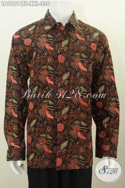 Batik Cap Pekalongan Pria Halus Lengan Panjang baju kemeja halus bahan batik cap tulis motif unik pakaian batik lengan panjang 3l elegan