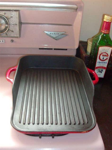 Beautiful Cast Iron Enamel Coated Red Grill Pan Plancha Diy Japanese Konro Grill For Yakitori