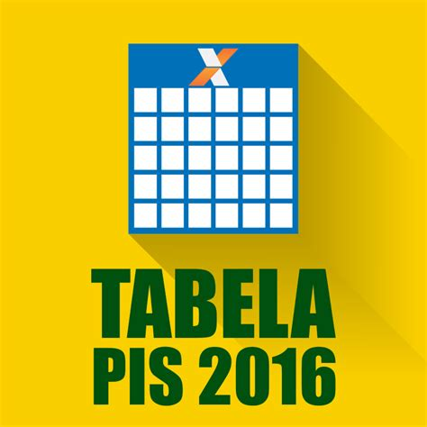 tabela do pis 2016 2017 calend 225 rio pis 2016 2017 tabela do pis 2017 oficial