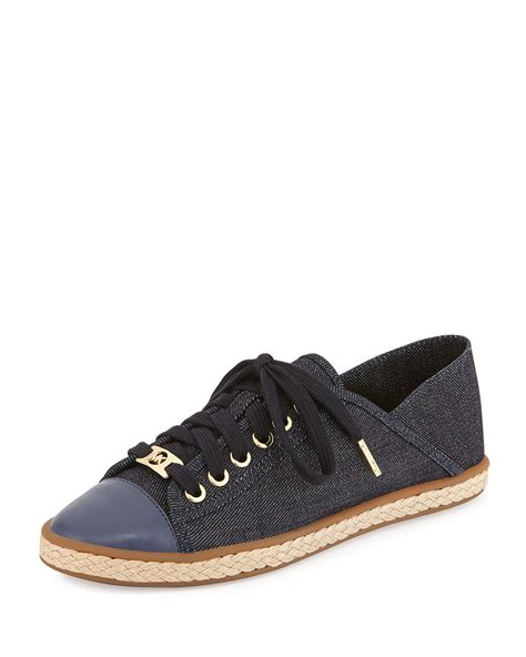 Sneakers Denim michael michael kors kristy denim lace up sneaker in blue lyst