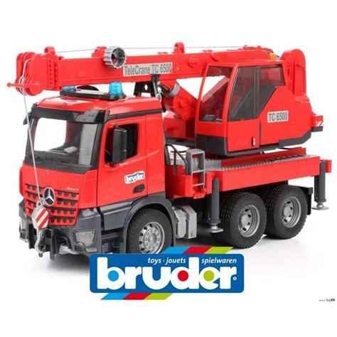 bruder toys mercedes bruder mercedes benz arocs crane truck with light and