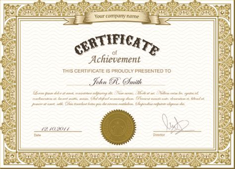 best certificate templates free best certificate photoshop design free vector