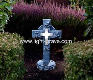 cemetery solar lights solar resin cross grave light solar grave light solar