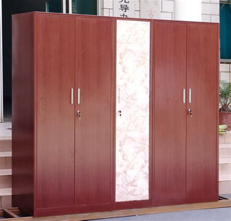 Wooden Cloth Cupboard Steel Furniture Transfer Printing Cabinet Wood Grain