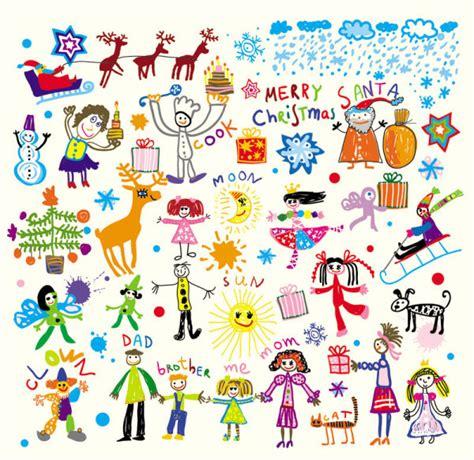 illustrator pattern from jpg cartoon children s illustrator vector de クリスマス用デザイン素材