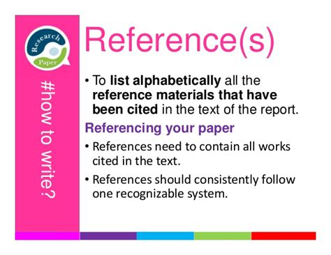 how to write references for research paper how to write a research paper