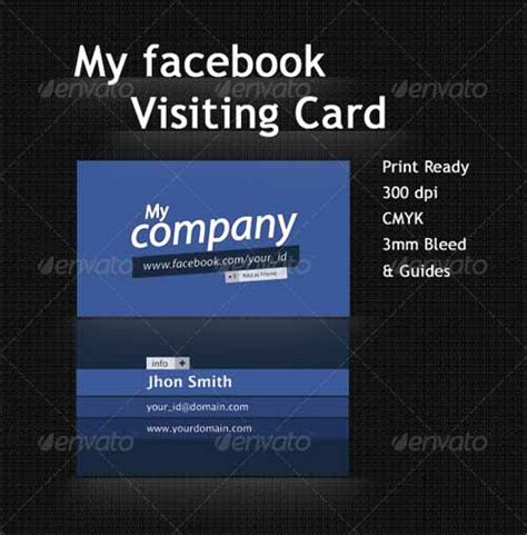 10 free and premium facebook business card templates