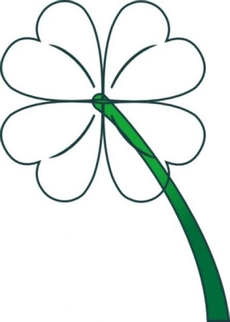 clover flower template clover clip cliparts co