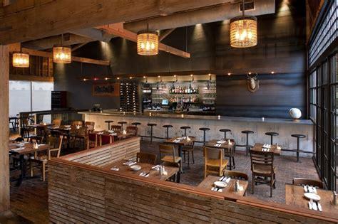 pallet dividing walls exposed concrete bar walls restaurant interior design industrial