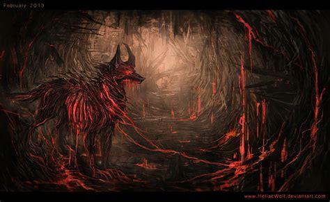 hellhound on a leash by heliacwolf on deviantart