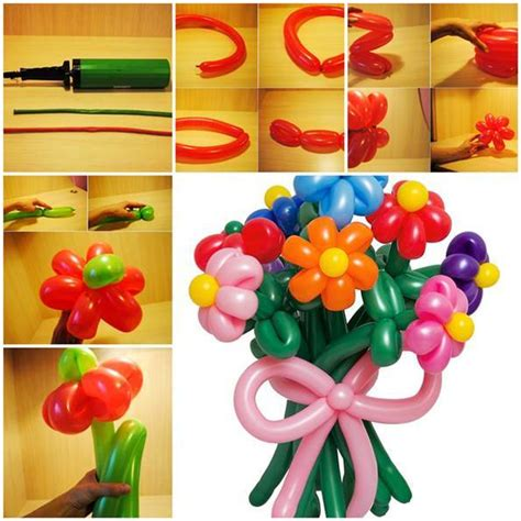 Beautiful diy balloon flowers beesdiy com