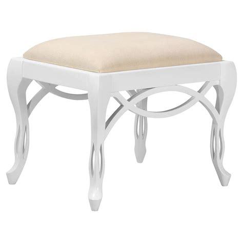 white ottoman stool norma regency white lacquer looped ottoman stool kathy