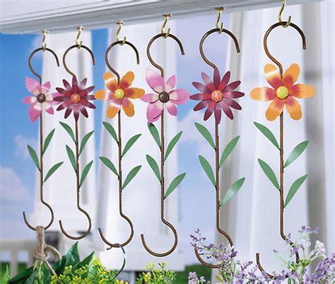 Hanging Plant Hooks - new 6 metal flower plant hangers hanging basket hooks