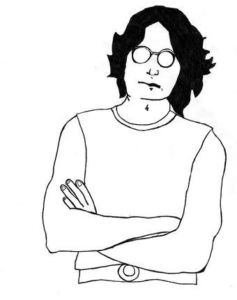 imagenes de john lennon en dibujo dibujos para pintar de john lennon colorear im 225 genes