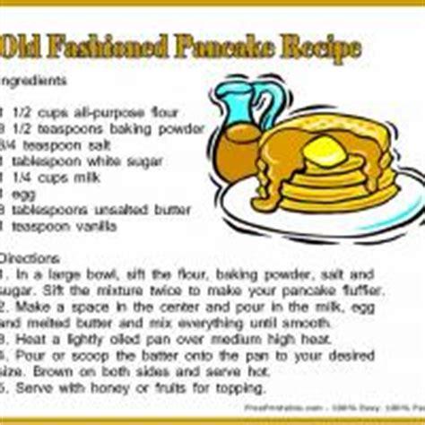 Printable Pancake Recipes | pancake recipe