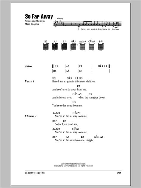 So Far Away Staind Acoustic Chords images